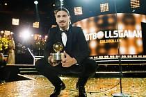 Zlatan Ibrahimovic byl podeváté vyhlášen nejlepším fotbalistou Švédska.