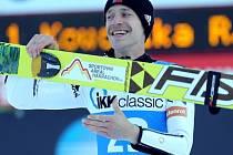 Roman Koudelka se raduje z vítězství v závodu SP.