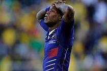 Zklamaný záložník Francie Mate Yoann Gourcuff po po prohraném utkání s JAR.