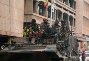 Zimbabwská armáda převzala kontrolu nad hlavním městem