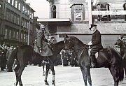 Generál Josef Bílý Josef Bílý s Tomášem Garriguem Masarykem na výročí vzniku ČSR dne 28.10.1933 před palácem Koruna na Václavském náměstí.