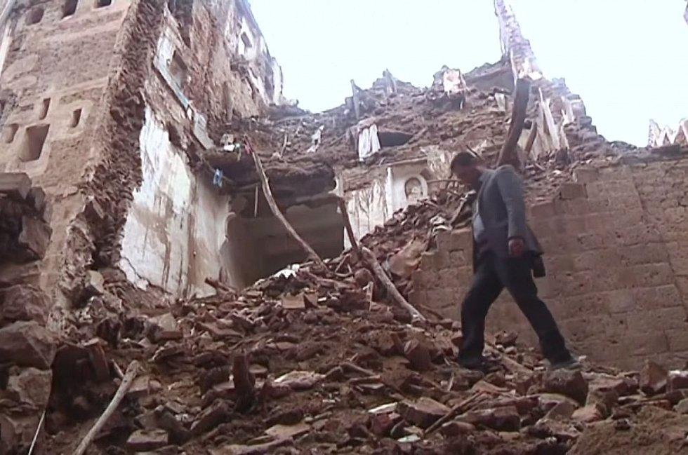 V hlavním městě Sanaa bylo dosud zničeno 106 budov