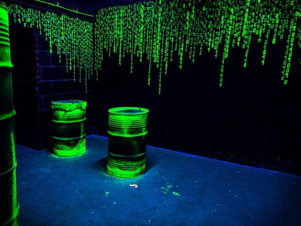 Slavný vzor z filmu Matrix tak překvapivě působí uklidňujícím dojmem.