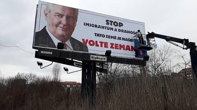 Miloš Zeman, předvolební billboard