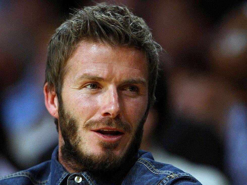 Na derby mezi Lakers a Clippers se přišela podívat i anglická fotbalová ikona David Beckham.