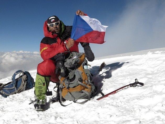 Radek Jaroš na vrcholu K2