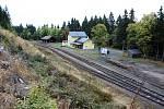 Železniční nádraží v krušnohorském Perninku