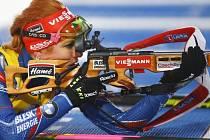 Gabriela Soukalová při střelbě