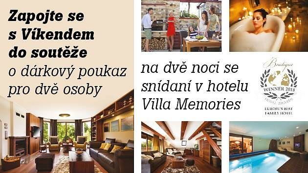 Soutěž o pobyt v hotelu Villa Memories.