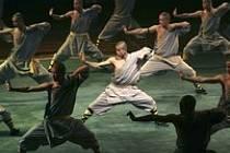 Přehlídka šaolinských mnichů, místrů boje.