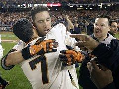 Baseballisté San Francisca se radují z postupu do finále zámořské MLB.