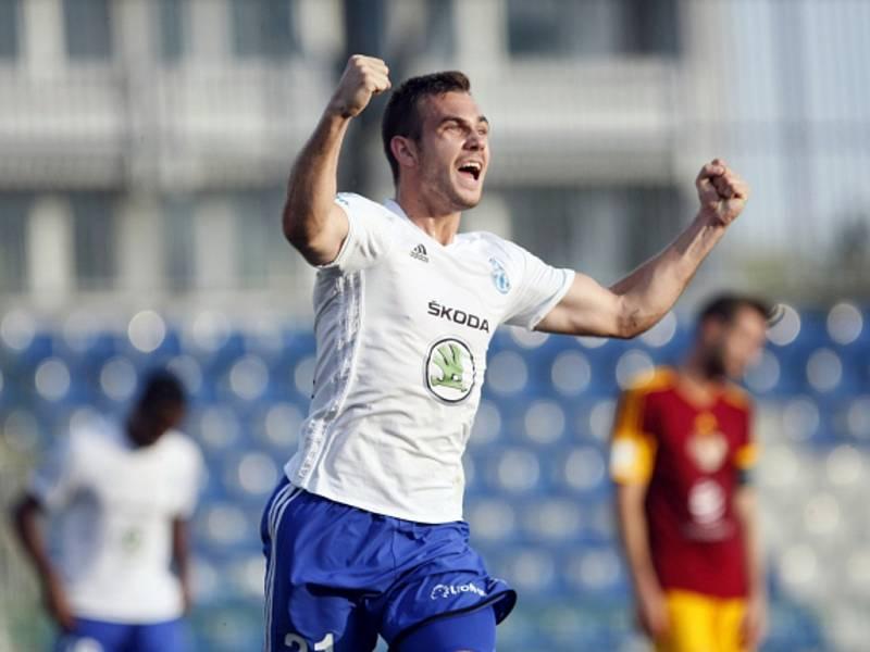 Stanislav Klobása v dresu Mladé Boleslavi rozhodl o výhře nad Duklou Praha.