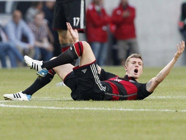 Marco Reus z Německa v zápase proti Kamerunu.