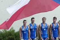 Čeští kajakáři (zleva) Svatopluk Baťka, Jan Štěrba, Pavel Holubář a Filip Šváb.