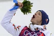 Druhá medaile. Biatlonista Ondřej Moravec vybojoval na olympijských hrách v Soči po stříbru bronz v závodu na 15 km s hromadným startem.