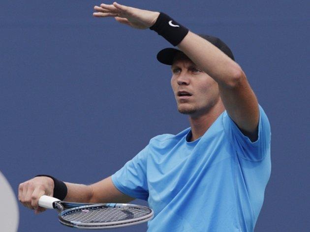 Tomáš Berdych v semifinále US Open.