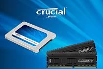 SSD disk a paměti Crucial řady Ballistix Tactical.