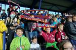 Děti na zápase Sparty proti Glasgow Rangers.