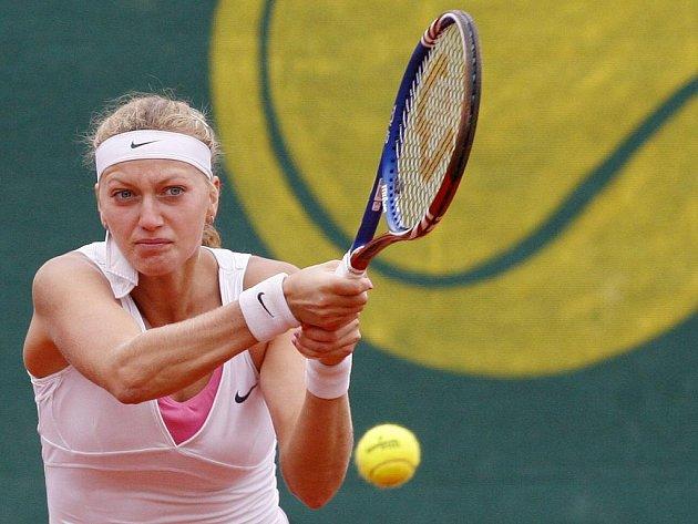 Česká tenistka Petra Kvitová na turnaji v Praze.