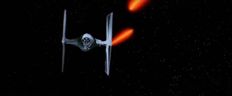Stíhačky Tie-fighter, s nimiž v prvním díle série o Hvězdných válkách svedli souboj hlavní hrdinové Luke Skywalker a Han Solo