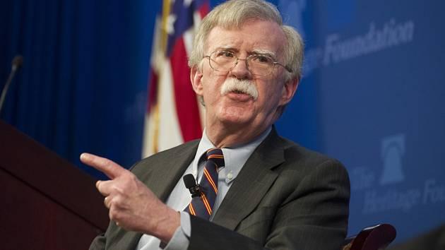 Poradce Bílého domu pro národní bezpečnost John Bolton.