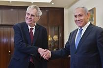 Miloš Zeman, Benjamin Netanjahu