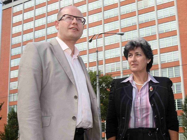 Bohuslav Sobotka a Alena Gajdůšková