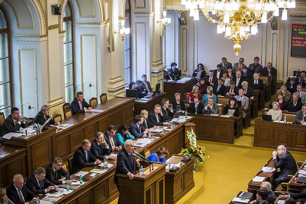 Prezident Miloš Zeman při jednání v Poslanecké sněmovně