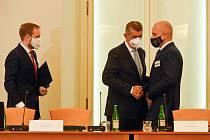 Jakub Kulhánek, Andrej Babiš a Jiří Baloun