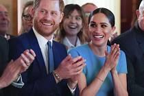 Britský princ Harry a vévodkyně Meghan 6. března 2020 v Londýně na předávání cen válečným veteránům.