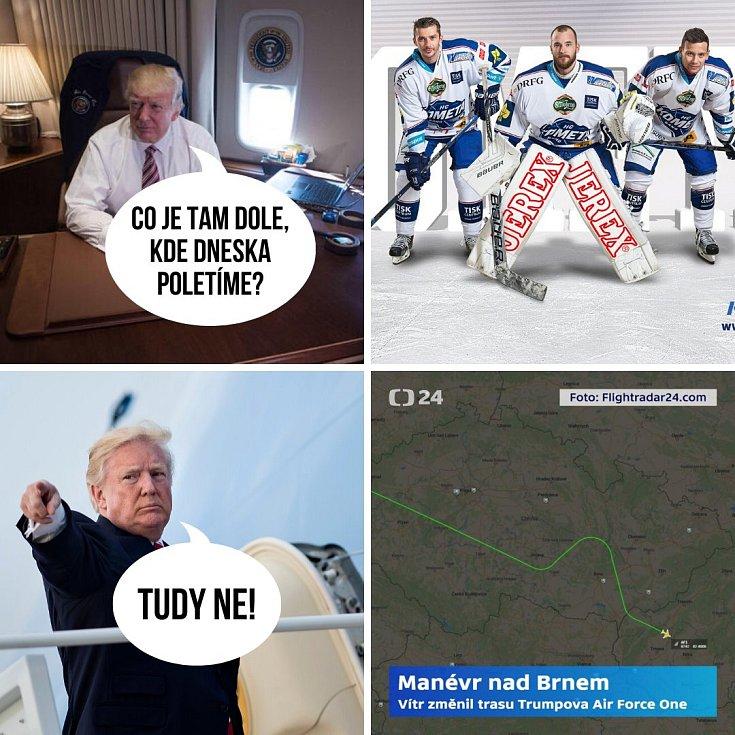 Zalekl se snad americký prezident brněnských hokejistů?