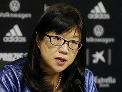 Prezidentka fotbalové Valencie Chan Lay Hoon.