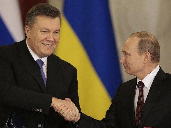 Viktor Janukovyč a Vladimír Putin