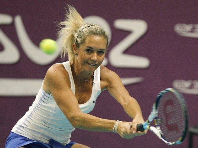 Klára Zakopalová na turnaji v Paříži.