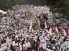 demonstrace v Jakartě