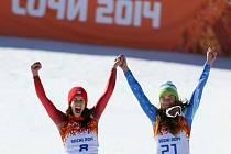 Dvě vítězky - Tina Mazeová a Dominique Gisinová