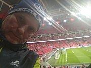 A takhle se fandilo Čechům ve Wembley.