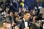Cristiano Ronaldo během vyhlášení