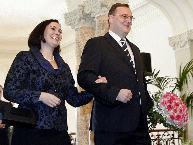 Petr Nečas s manželkou Radkou.