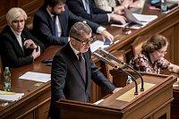 Jednání Sněmovny o žádost o vyslovení souhlasu s trestním stíhání poslanců Andrej Babiš a Jaroslava Faltýnka 19. ledna v Praze. Babiš
