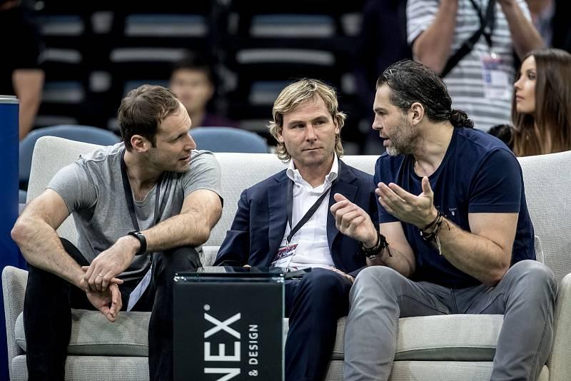 Štěpánka přišli podpořit (zleva) Petr Čech, Pavel Nedvěd i Jaromír Jágr.