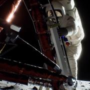 Přistání na měsíci - simulace společnosti Nvidia