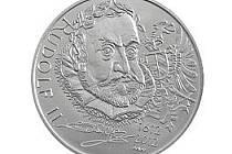 Stříbrná dvousetkoruna ke 400. výročí úmrtí římského císaře a českého krále Rudolfa II.