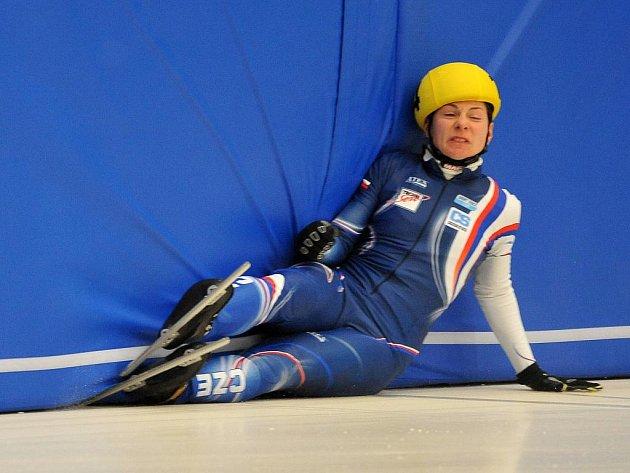 Kateřina Novotná spadla na ME v semifinále závodu na 500 m.