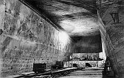 Historická těžba soli.