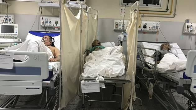 Pacienti v nemocnici v Riu de Janeiro