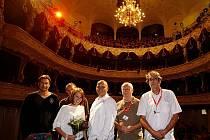 Slovenská delegace představila v pondělí na 43. ročníku mezinárodního filmového festivalu Karlovy Vary slovenský snímek Muzika.