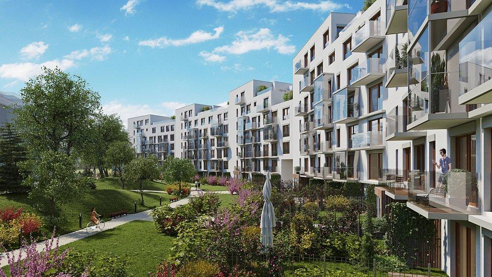 V rámci pražského projektu Aalto Cibulka se staví YIT dvě stě padesát nízkoenergetických bytů v těsné blízkosti přírodního parku Košíře-Motol.