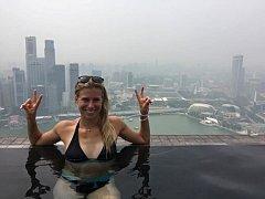 Andrea Hlaváčková si užívá v Singapuru