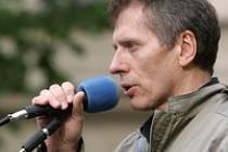 Vladimír Hučín podpořil Čunka na demonstraci.